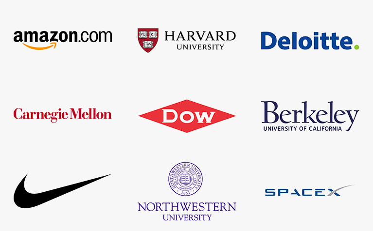 Company and graduate school logos