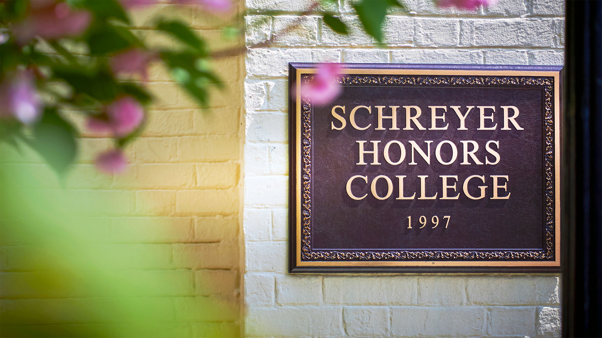 Schreyer Honors College sign