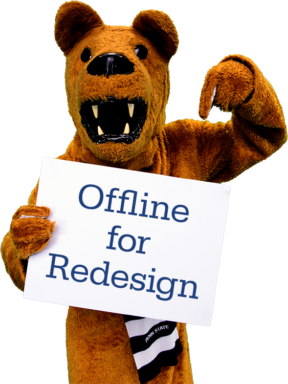 Nittany Lion holding sign